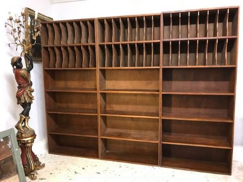 French Storage Shelves Form Postal Office- b74